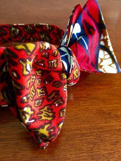 African Print Self-tie Bowtie  Bowtie  by GabeJadeAccessories