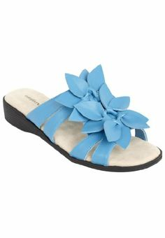 Comfortview Sole Therapy Paula Slip-On Flower Sandals Vibrant Blue,7 Ww Comfortview, To buy To SEE or BUY just CLICK on AMAZON right here   http://www.amazon.com/dp/B00IZEVZH0/ref=cm_sw_r_pi_dp_g7zEtb0ZCAWHGQ0D