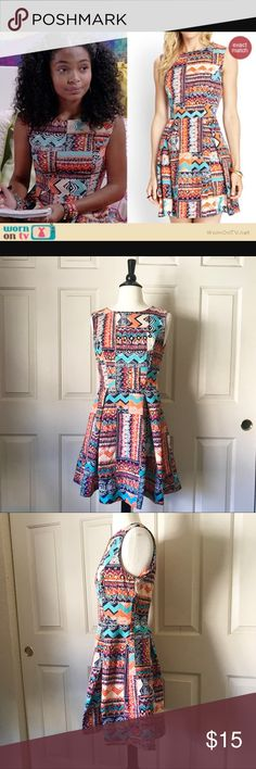 Preowned Forever 21 Tribal Dress Small Good condition Forever 21 Dresses