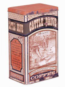 Vintage Advertising Cattle Drive Coffee Tin