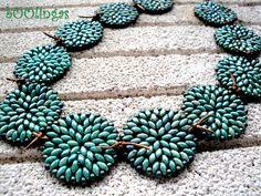 Reto Beads-Perles: Mint, Aquamarine, Emerald by bOOlingas, via Flickr