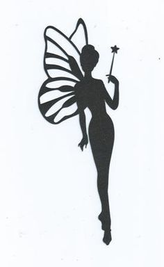 Fairy with wand silhouette by hilemanhouse on Etsy, $1.99
