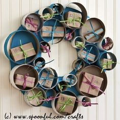 Advent Wreath-Thinking of making it for a birthday and writing in each package a note of something I like about the person.