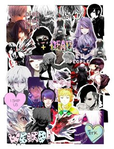 Tokyo Ghoul Collage by ninachloexxx on Polyvore featuring art