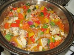 Caribbean Fish stew with vegetables Fish Stew, Nigerian Food, Fried Fish, Food Blogs, Fish And Seafood, International Recipes, Seafood Recipes, Caribbean, Food To Make