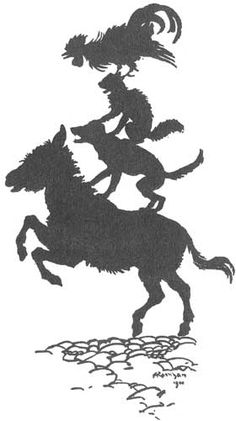 I love this story about the resourcefulness of four animals; Bremen Town Musicians by Arthur Rackham, illustrator