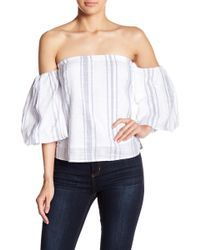748a04ef06749a Romeo and Juliet Couture - Striped Off-the-shoulder Top - Lyst Romeo And
