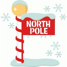 christmas penguin hiding behind north pole signage graphics shy rh pinterest co uk north pole clip art free north pole clipart free