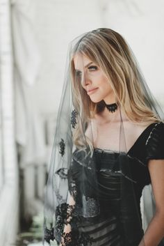 Wedding Veil Ivory With Beads Drop Veil, Aisle Style, Black Goth, Black Veil, Chantilly Lace, Wedding Bridesmaid Dresses, Wedding Veils, Beautiful Bride, Beautiful Women