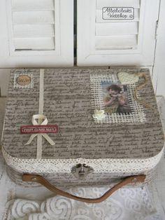 VOORBEELD Vintage kartonnen koffer