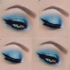Linda Hallberg inspired Blue Halo Eye featuring Suva Beauty, Viseart Editorial Brights, Looxi Beauty & Lit Cosmetics