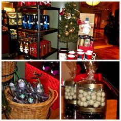 Want to get a jump start on your holiday shopping? The Starbucks in our lobby has some fun and festive gifts! #irvine #holiday #gifts
