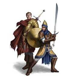 Male Human Fighters - Pathfinder PFRPG DND D&D 3.5 5th ed d20 fantasy
