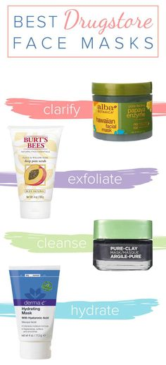 Best DIY Hair Masks And Face Masks : These are the best drugstore face masks for blackheads moisturizing oily skin