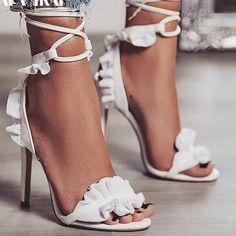 Cute Ruffles Heels – Adele Paris