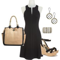 Little Black Dress, add a scarf or sweater for it and you have a day outfit for work.