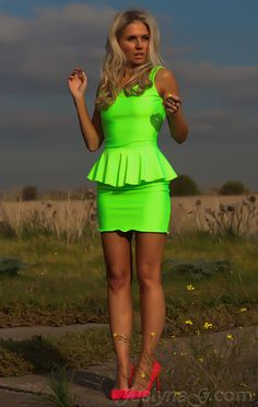 Neon Peplum POP!