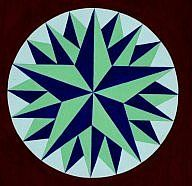 """Pennsylvania Dutch hex sign - triple star is traditional for """"success"""""""