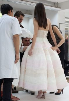 Fitting with Raf Simons of Dior.