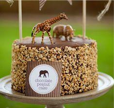 Explorer Birthday Party -Cake recipe -Chocolate Peanut Cake by The TomKat Studio