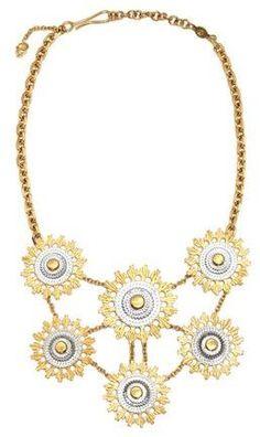 Alexander McQueen Skull Flower Necklace on shopstyle.com