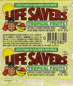 LifeSavers - Tropical Fruits - Early 1980s by JasonLiebig, via Flickr