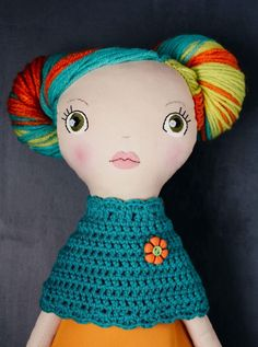 Your place to buy and sell all things handmade Handmade Soft Toys, Handmade Gifts, Ooak Dolls, Art Dolls, Dolly Mixture, Sewing Dolls, Doll Hair, Fabric Dolls, Softies