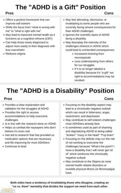 Is ADHD good or bad? Blesing or curse? The Answers you need to understand if ADHD is a disorder or a wonderful gift. Professor, Adhd Facts, Adhd Quotes, Adhd Signs, Adhd Brain, Adhd Help, Adhd Strategies, Cognitive Behavior, Adhd Symptoms
