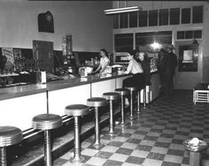 Midwest creamery Dairy store interior 1952    Demolished