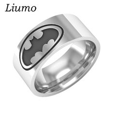 Liumo Batman 316L Stainless Steel Men Biker Ring Lr281. Yesterday's price: US $1.36 (1.11 EUR). Today's price: US $1.29 (1.05 EUR). Discount: 5%.
