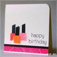 nail polish card..cute for teens