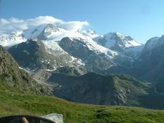 Magnificent view at one mountain valley in Switzerland. 2007 summer.