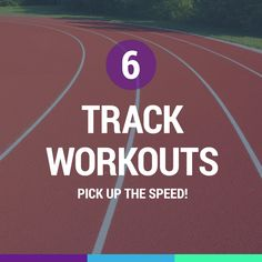Pick up the speed with these track workouts. Track Workouts For Sprinters, Fitness Design, Track And Field, Cross Country, Get In Shape, Marathon, At Home Workouts, Healthy Living, Motivational Quotes