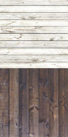 StudioPRO Food Photography Table Top Lighting Kit - White & Brown Wood Floors - 3'x3' ea