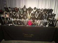 A table full of exquisiteness..Traci Lynn Fashion Jewelry is available for vending events, special events, a girls night out, home shows and more!  www.tracilynnjewelry.net/valdabraziel vbraziel@gmail.com.