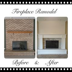 Brick fireplace remo
