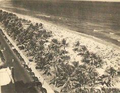 Mid Winter Bathing at Lummus Park on Ocean Drive in Miami Beach, Fla. 1940's