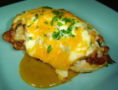 """Outback Steakhouse Alice Springs Chicken. Copycat Recipe. -  You'll love the mushrooms, bacon, cheese, and honey mustard piled on a chicken breast that's been grilled on the """"barbie""""."""