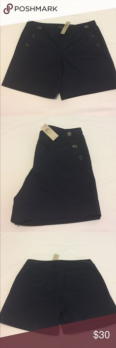 Ann Taylor signature sailor shorts Cutest sailor navy shorts! Never worn with tags. Buttons in the front with front and back pockets. 6 inch length Ann Taylor Shorts