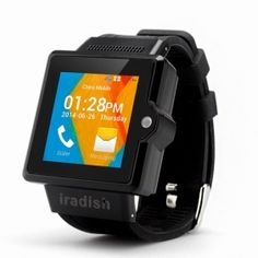 Iradish i6 1.54 inch Android 4.0 Dual Core 3G Smart Watch Phone with 2MP Camera
