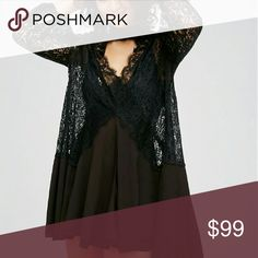 Free people lace tunic black Free people....retails 128 price is firm Free People Dresses Mini