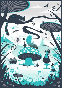 Phil West Illustration (Alice in Wonderland)