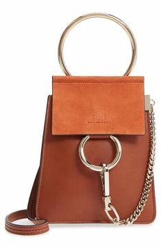 7dcc9615a16 Chloé Faye Small Suede   Leather Bracelet Bag