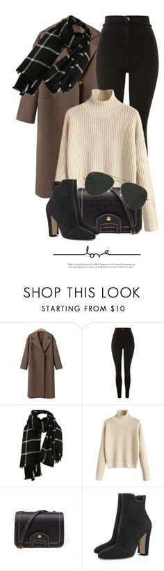 """Untitled #6307"" by monmondefou ❤ liked on Polyvore featuring Topshop and Ray-Ban"