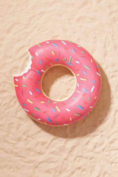 Gigantic Strawberry Donut Pool Float