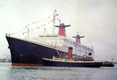 SS France calling at Southampton