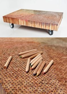 It takes a while, but with 8000 Pencils you get a GREAT coffee Table! just love it!