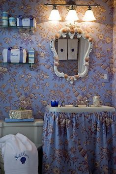 Bathroom In Brunschwig Fils Lavender Cottage Laundry Rooms Bohemian