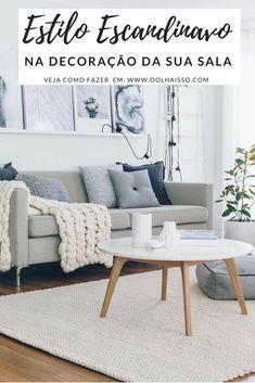 estilo escandinavo na decoracao da sala de estar. decoração escandinava. decoração nórdica. sala com sofá cinza. almofadas coloridas. sala minimalista. sala de visita com decoração simples. sofá pequeno. quadros acima do sofa.