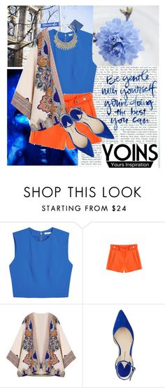 """Yoins Kimono"" by gabygirafe ❤ liked on Polyvore featuring Alice + Olivia and Paul Andrew"